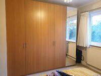 IKEA PAX Double Wardrobe - Oak Effect - Tall