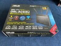 [SOLD] ASUS DSL-AC68U AC1900 VDSL modem, Router, Dual-Band WiFi