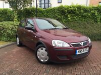 VAUXHALL CORSA 1.0 LIFE 12V 55 PLATE WITH ONLY 43000 MILES FROM NEW MOT 12 MONTHS