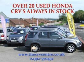 HONDA CRV 4X4 4WD ALL COLOURS MANUAL OR AUTOMATIC FROM £3495 THE CRV CENTRE 02392-570452