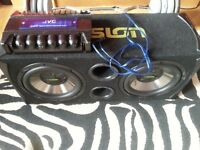 Twin subwoofer and amp
