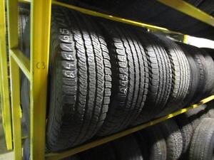 SET OF USED GOODYEAR TIRES P245/65R17