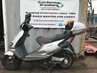 2002 PIAGGIO SKIPPER ST125 4 STROKE SILVER - LEARNER LEGAL MOPED SCOOTER PROJECT