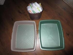 Bac à litière et petite poubelle
