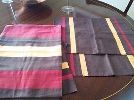 Dining table runner and six matching place mats. Brand new - still with tags.