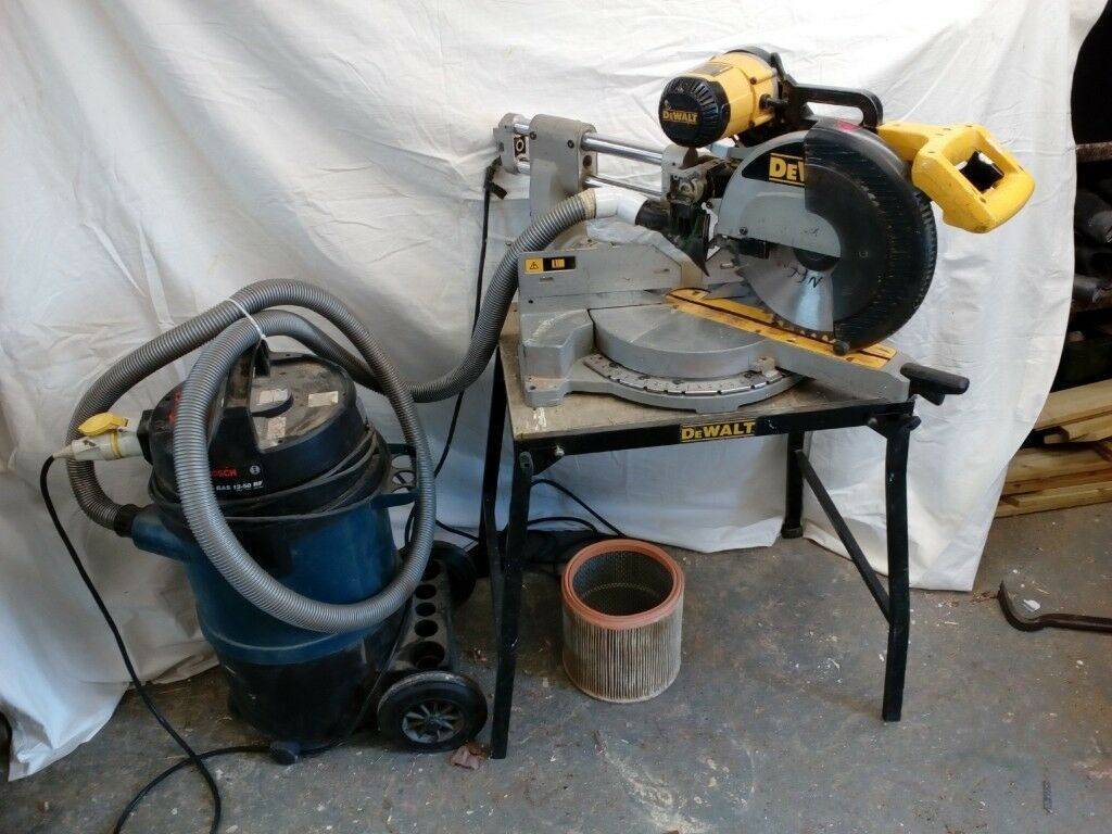 Dewalt 305mm double bevel drop saw and extractor in ringwood dewalt 305mm double bevel drop saw and extractor greentooth Choice Image