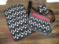 Baby changing bag, matching mat & chest pads