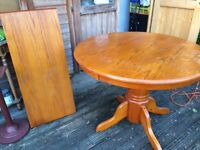 Solid Wood Pine Extending table