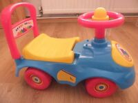 Baby's First Ride On Toy, LIft Up Seat, Steering Wheel, Excellent Condition.