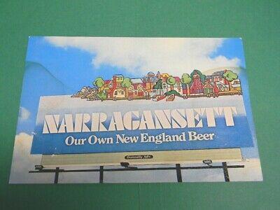 VINTAGE NARRAGANSETT BEER BILLBOARD POSTCARD CRANSTON RI DONNELLY ADVERTISING