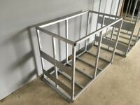 Window cleaning galvanised tank support frames