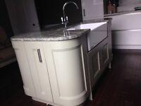Kitchen Island with Belfast Sink, Swan Tap and Granite Worktop
