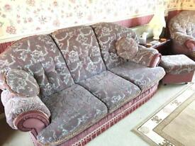 Sofa immaculate condition and foot stool