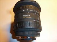 Sigma lens 17 - 35mm D f2.8-4 Aspherical EX -A/F Lens