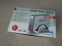 Targa external 500GB HDD