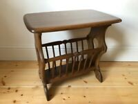 Ercol Chaucer Magazine Rack / Coffee / Side Table in Golden Dawn Model no is 974 - As New Condition