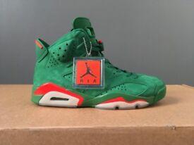 Air Jordan Retro 6 Gatorade - Pine Green and Orange Blaze - UK9 - Deadstock