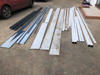Various guttering, downpipe, fascia board and fittings - brand new