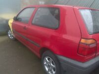 V W Golf MK3 1.4 Match breaking for spares good panels etc