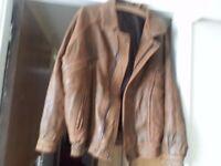 Mens Calf Leather Minder Style Vintage Jacket