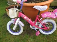 """Lovely Disney """"Minnie Mouse"""" Girl's Bicycle 12inch wheels"""