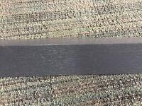 Modern Grey Wood Grain 5 metre UPVC Plastic Rigid Angle 40mm x 40mm Trim Lengths 90 degree Decking