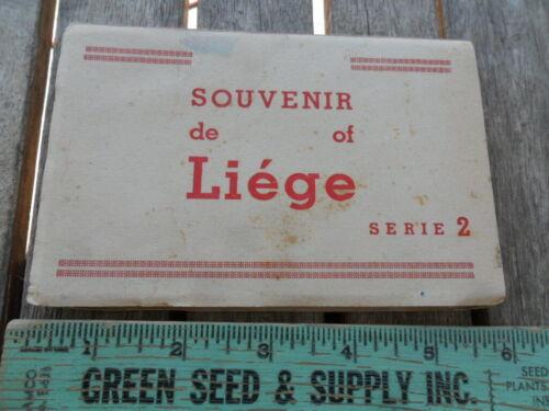 Vintage Souvenir Liege Belgium 10 Postcards in Booklet