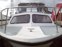NORMAN 18FT MOTOR CRUISER WITH MERCURY 9.9HP ELECTRIC START OUTBOARD