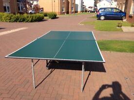 Indoor tennis table