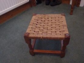 small ratten woven topped stool