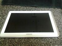 10 inch samsung tablet 16 gb , GT -N8010 , FAULTY , SPARES OR REPAIR