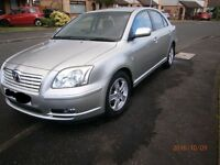 Toyota Avensis, 55 plate. Low milage for year. In great condition inside and out