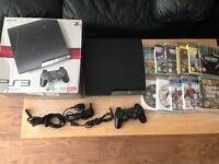 PS3 slim console, 250 GB plus 10 games - bargain £79