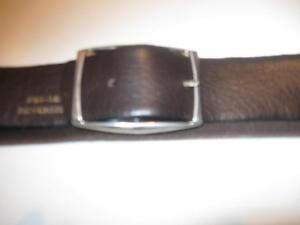"MAN's or YOUTH'S 30"" SOFT FLEXIBLE CALF-LEATHER BELT & BUCKLE"