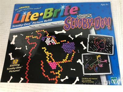 Lite Brite Scooby Doo Picture Refill Pages Hasbro 2001-Sealed in Package New