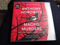 2 Audiobook CDs Magpie Murders (Anthony Horowitz) and Far From True (Linwood Barclay)