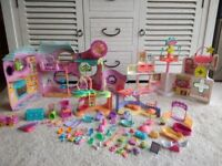 Littlest Pet Shop Play sets x 4 plus lots of accessories - good condition