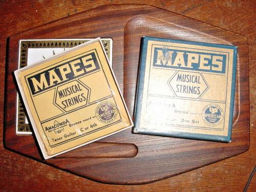 UNOPENED SET MAPES MUSICAL TENOR GUITAR STRINGS ANACONDA BRONZE WOUND 50s/60s