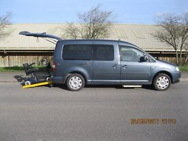 Volkswagon Caddy Maxi auto Has mobility adaptions to include rear electric ramp for wheelchair acces