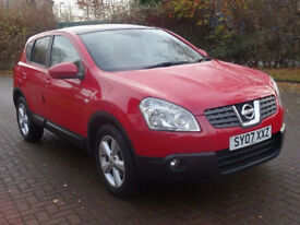 NISSAN QASHQAI 2.0 TEKNA 5d AUTO 140 BHP LEATHER TRIM ++ PANORAMIC SUN ROOF+