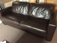 Brown Leather Sofa (from DFS)