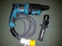 new Makita HR2630 SDS+ 3 Mode Hammer Drill + Point + Chisels + Keyless Chuck 110V noT deWALt hILti