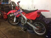 Honda cr 250. Recent engine and suspension rebuild new radiator