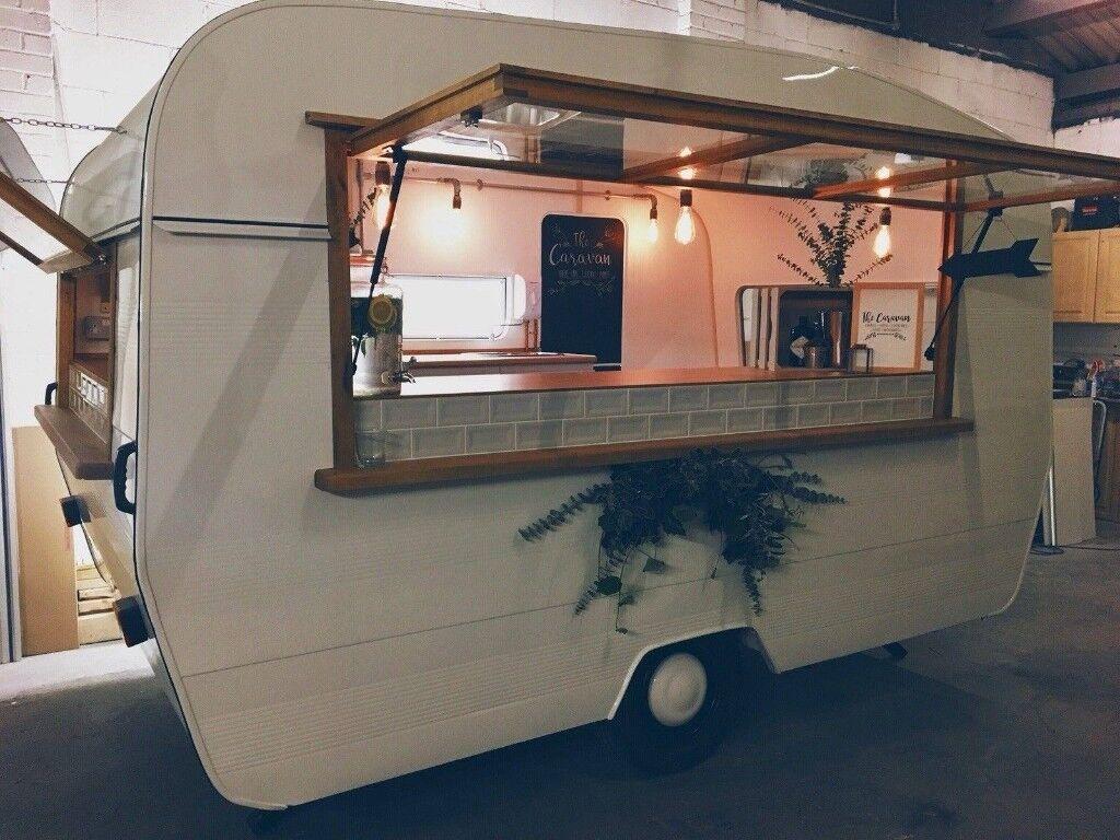 Retro Caravan Catering Trailer Vintage Coffee Van Mobile Bar Business Brand New