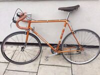 PEUGEOT CADRE ALLEGE + VINTAGE BROOKS (PAID only the saddle £100 IN EBAY)