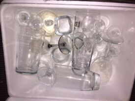 Assorted Glassware for Wedding party etc..