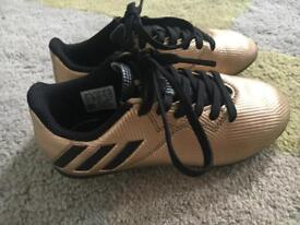 Adidas 'Messi' football boots. Kids Size 11.