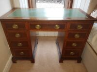 Old Leather Topped Writing Desk