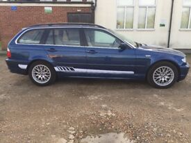 BMW 320i se E46 touring Blue One off a kind future classic with very low milage
