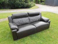 3 Seater Dark Brown Leather Sofa